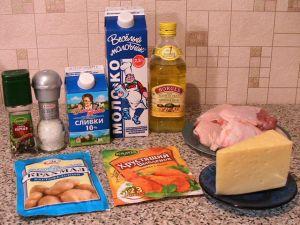 Курица в сыре. Ингредиенты