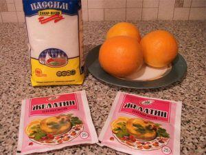 Апельсиновое желе. Ингредиенты
