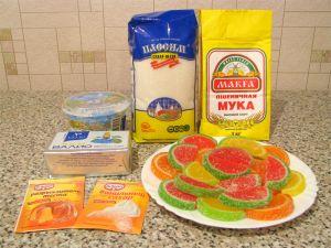 Пирог Мармеладный. Ингредиенты