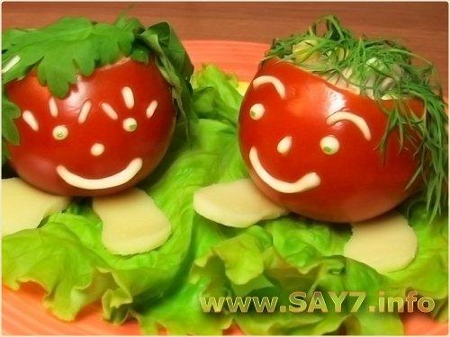 Фаршированные помидоры Веселые ребята