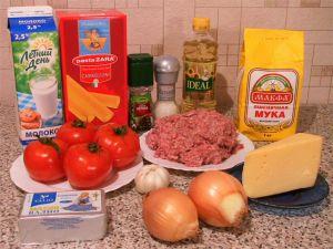 Каннеллони с мясной начинкой. Ингредиенты