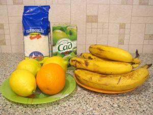 Банановый щербет. Ингредиенты