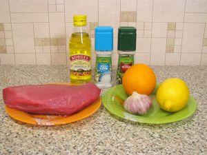 Говядина, жаренная с лимоном и апельсином. Ингредиенты