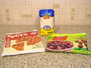 Слоеные пирожки с вишней. Ингредиенты
