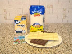 Шоколадное суфле День и ночь. Ингредиенты