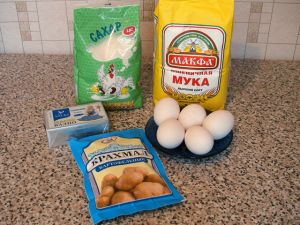 Вафельные корзиночки с белковым кремом. Ингредиенты