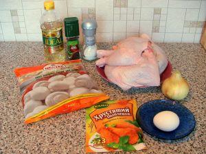 Фаршированные куриные окорочка. Ингредиенты