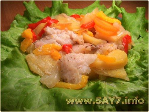 Рыба с картофелем, запеченная в фольге