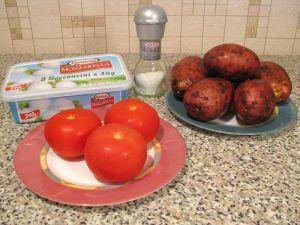 Картофель, запеченный с помидорами и сыром. Ингредиенты