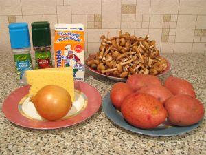 Запеканка с грибами и картофелем. Ингредиенты