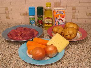 Печень с картофелем, запеченные в горшочке. Ингредиенты